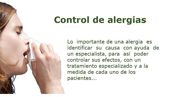 control de alergias